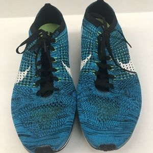 Nike FlyKnit Racer Blue Glow Men's Running Shoes